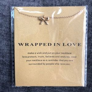 🎀 Wrapped in Love 14k gold dipped necklace